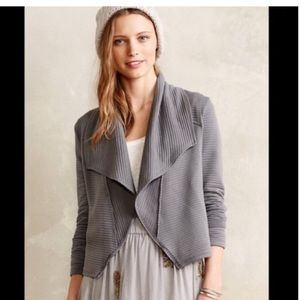 Anthropologie Dolan Lea Cropped Knit Blazer L